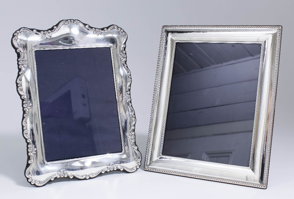 An Elizabeth II silver rectangular photograph frame,
