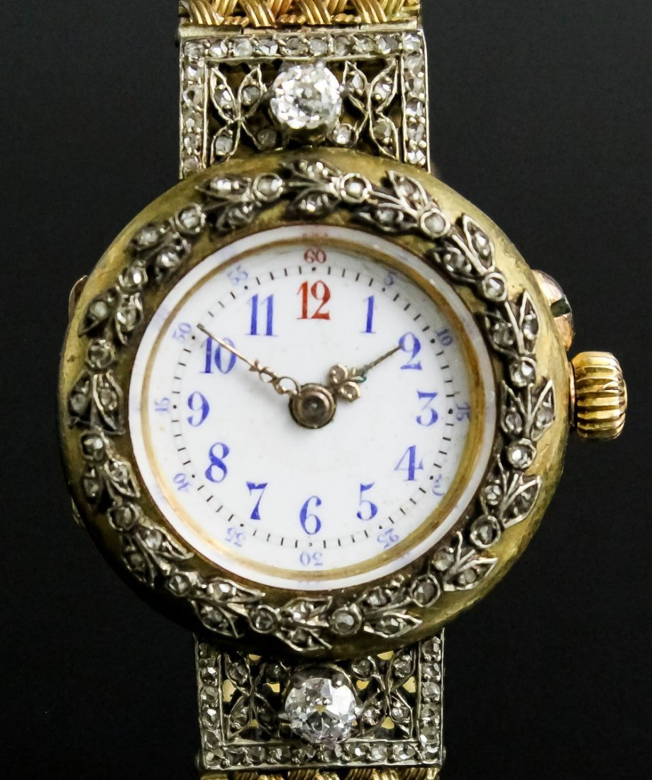 An early 20th Century French lady's gold and silvery