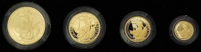 An Elizabeth II 1998 gold Proof Britannia gold four