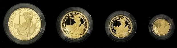 An Elizabeth II 2000 gold Proof Britannia four coin