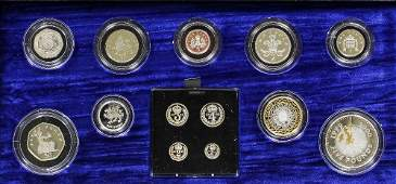 An Elizabeth II Silver Proof Millennium Collection