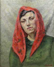 (ARR) Dod Proctor (1891-1972) - Oil painting - Shoulder