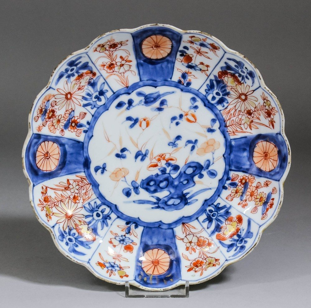 """A Chinese porcelain plate decorated in the """"Imari"""""""