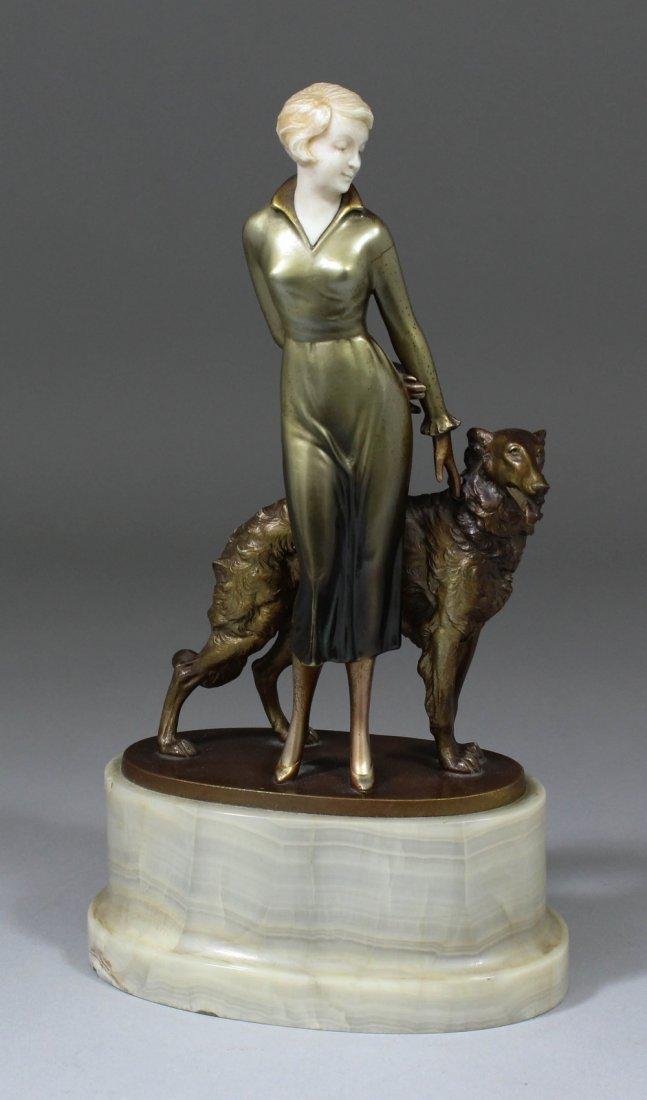Josef Lorenzl (1892-1950) - Good patinated bronze and