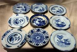55: Collection of late 19th century Chinese blue and wh
