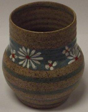 Clarice Cliff Bizarre Goldstone vase with Newport Potte