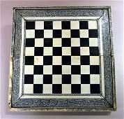 Anglo-Indian ivory veneered games box, Vizagapatam cheq