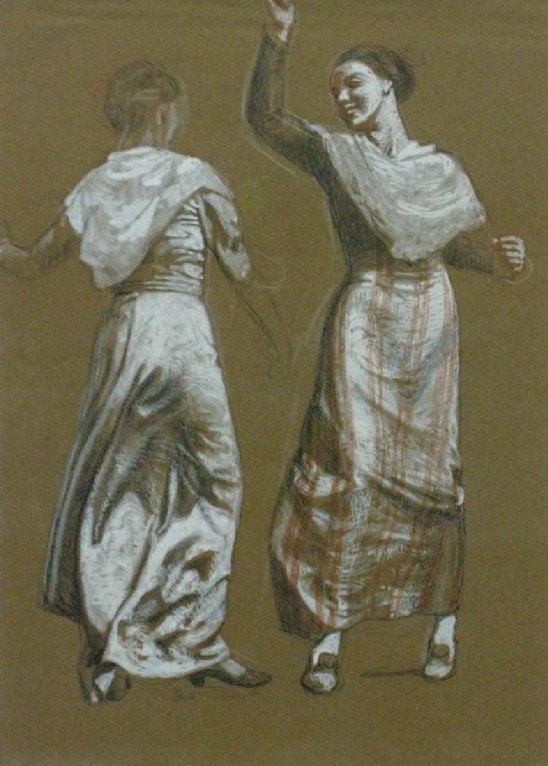 GEORGES BRASSEUR DANCING GIRLS DRAWING