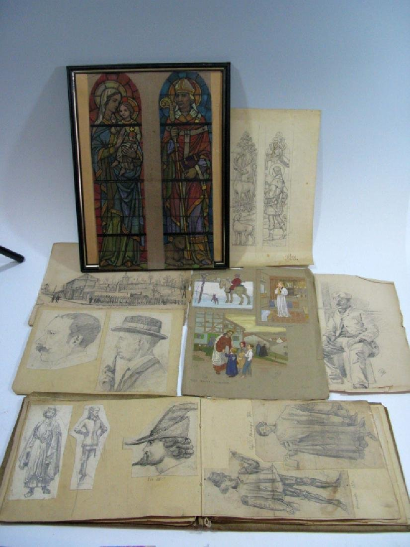 GEORGES BRASSEUR ORIGINAL SKETCHES & BOOK