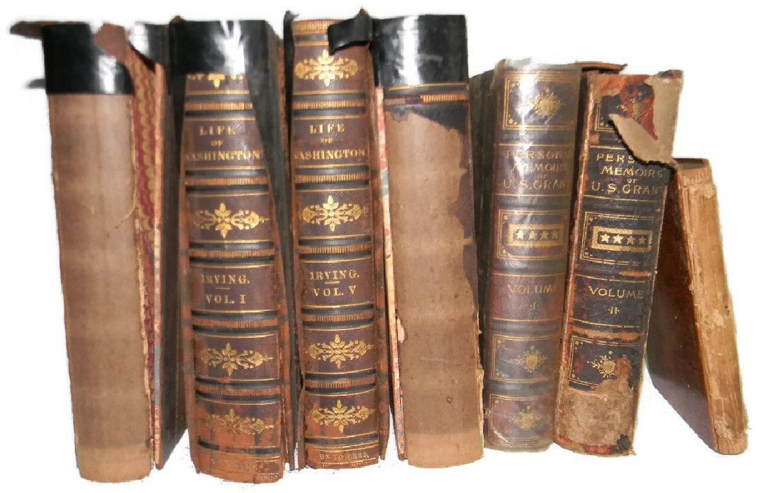 7 1ST ED BOOKS ON WASHINGTON, GRANT & US HISTORY