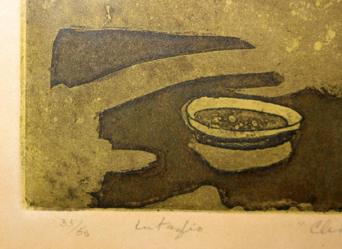 SIGNED MID-CENTURY ROOSTER INTAGLIO ETCHING - 6