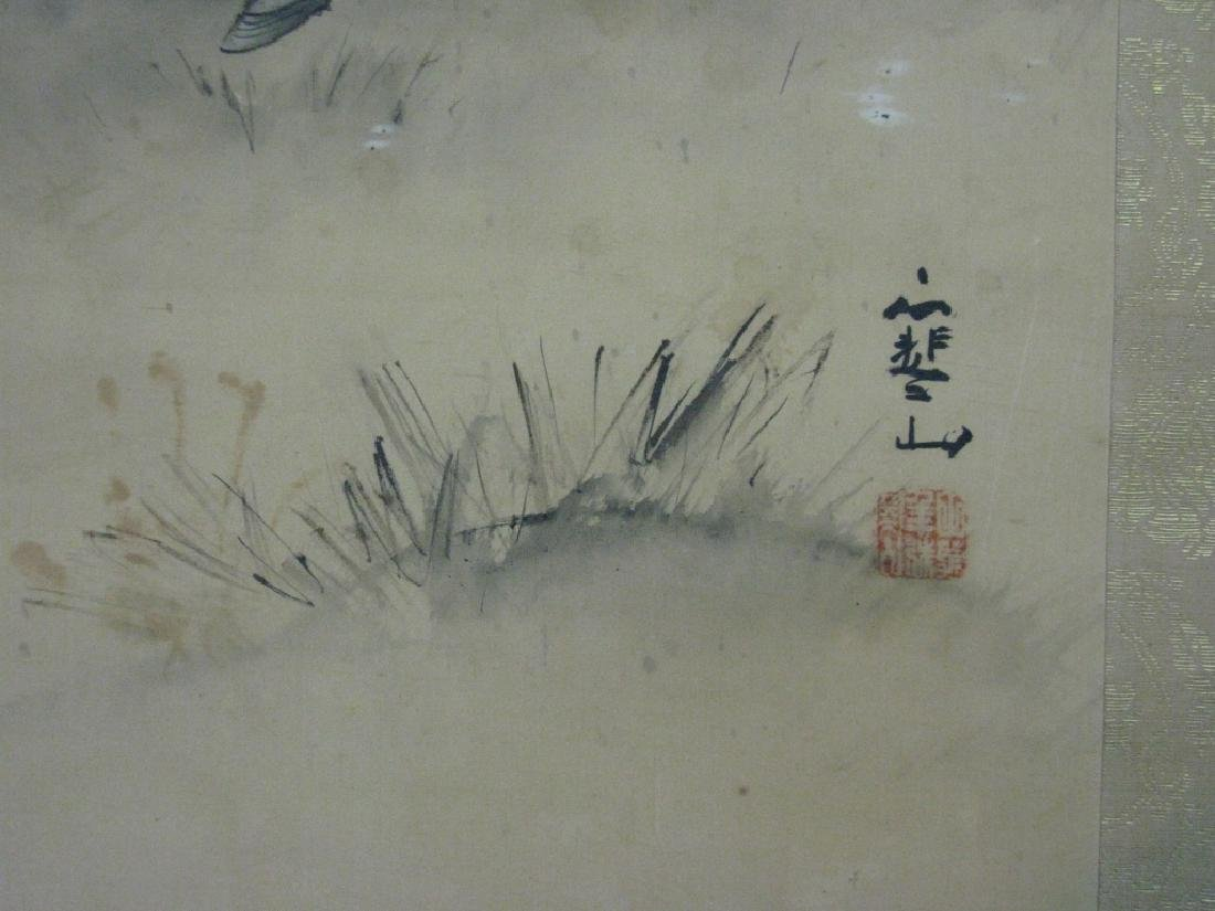 JAPANESE PAINTED SCROLL W/ SAMURAI ARCHERS - 8