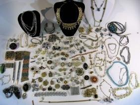 Dealer's Lot Of Antique & Vintage Costume Jewelry