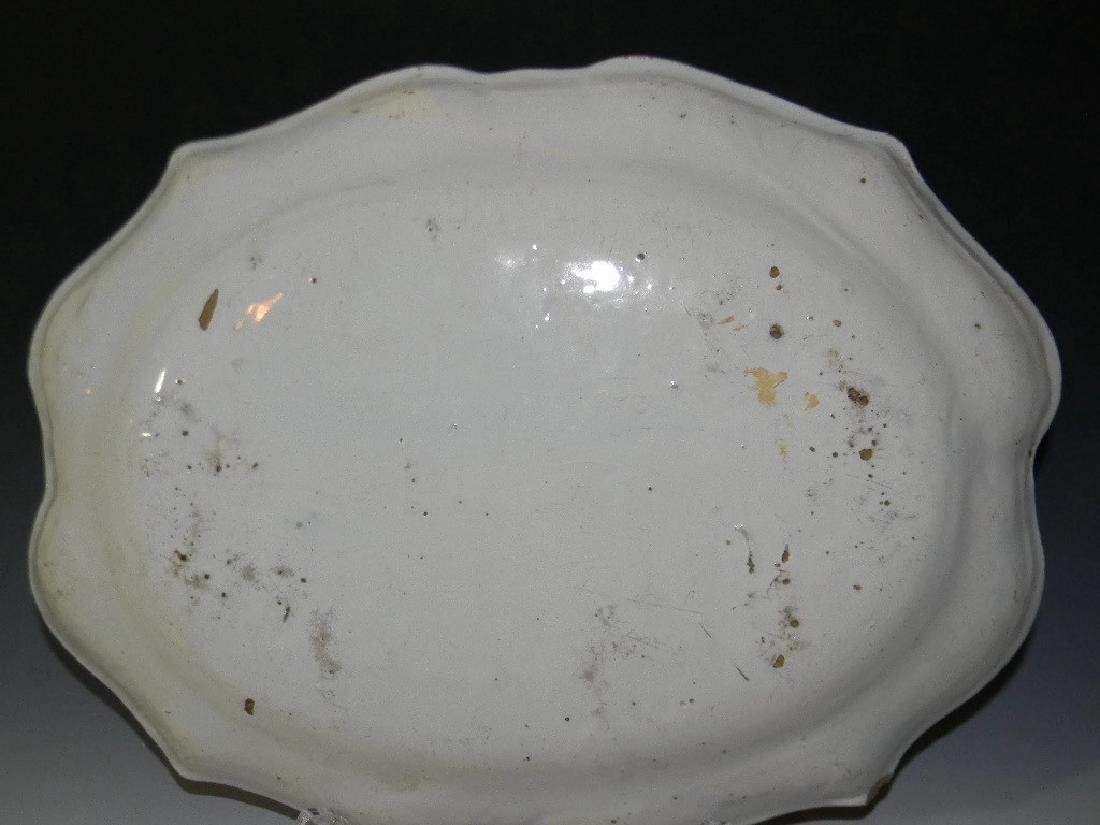 18TH C BLUE AND WHITE DELFT FAIENCE PLATTER - 5