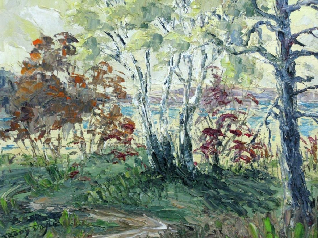 TRUDY DOYLE IMPASTO OIL CANADA LANDSCAPE PAINTING