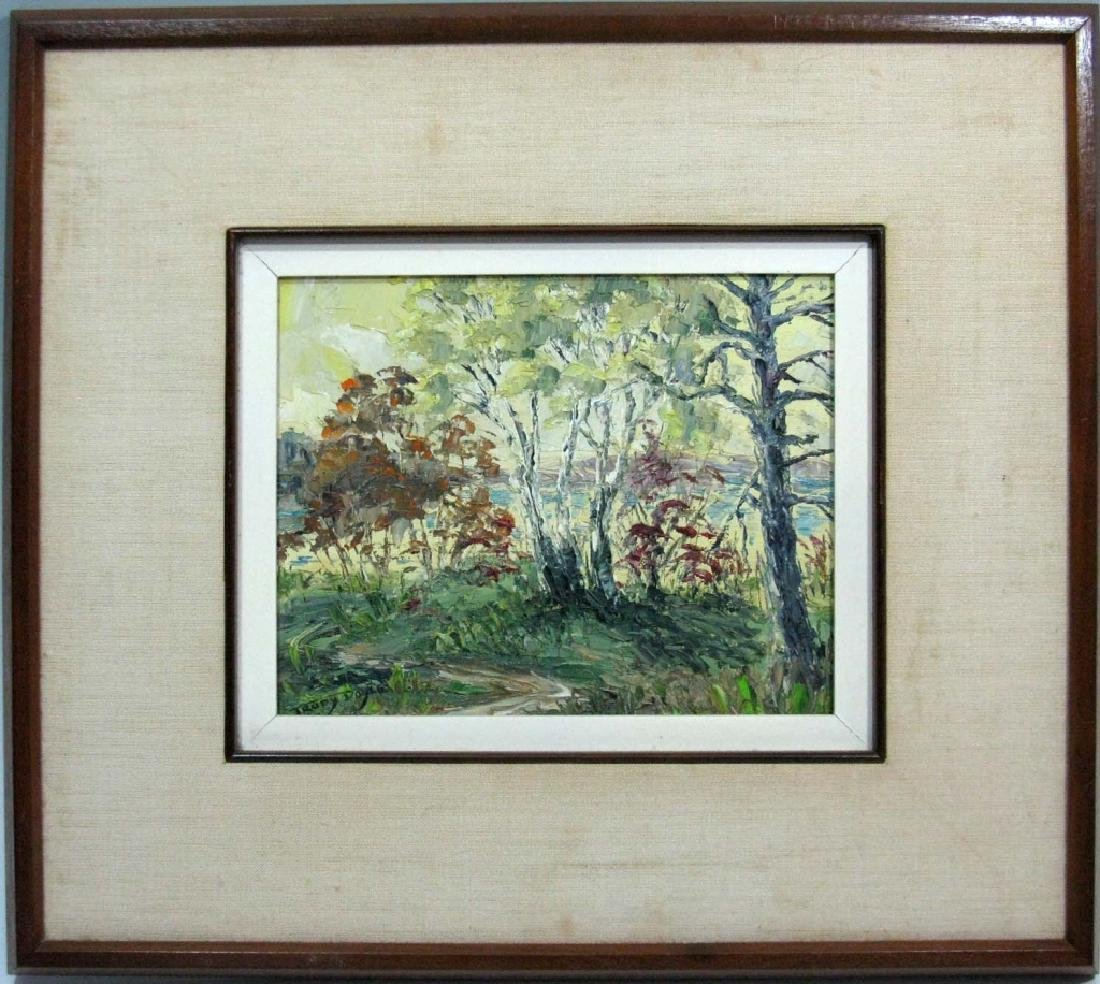 TRUDY DOYLE IMPASTO OIL CANADA LANDSCAPE PAINTING - 2