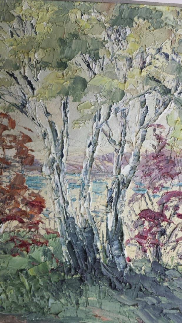TRUDY DOYLE IMPASTO OIL CANADA LANDSCAPE PAINTING - 5