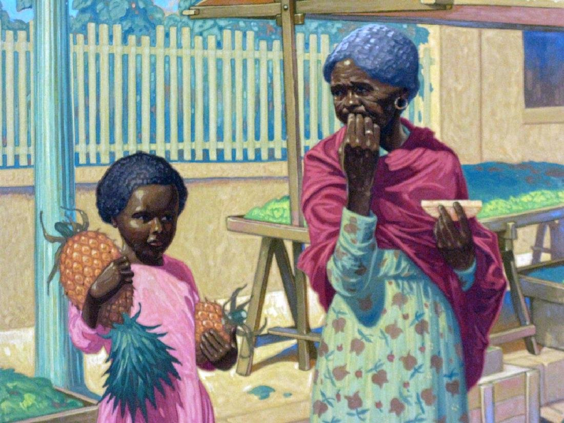CLARENCE BIMM STAM GOUACHE FIGURATIVE PAINTING