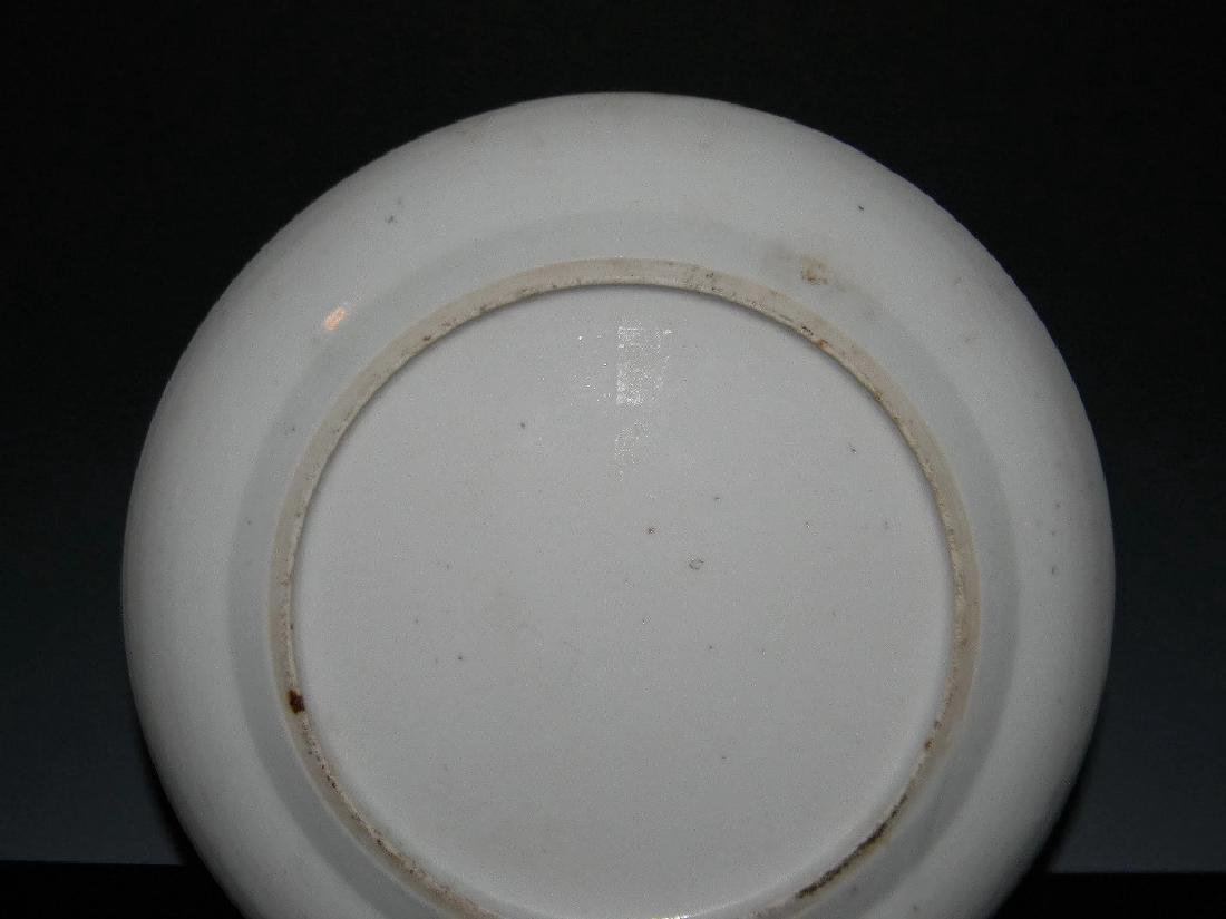 CHINESE EXPORT CERAMIC BLUE AND WHITE PLATE - 6