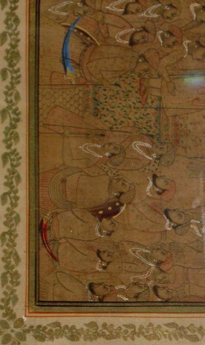 2 INDIA GOUACHE & GILDING ON SILK PAINTINGS - 2