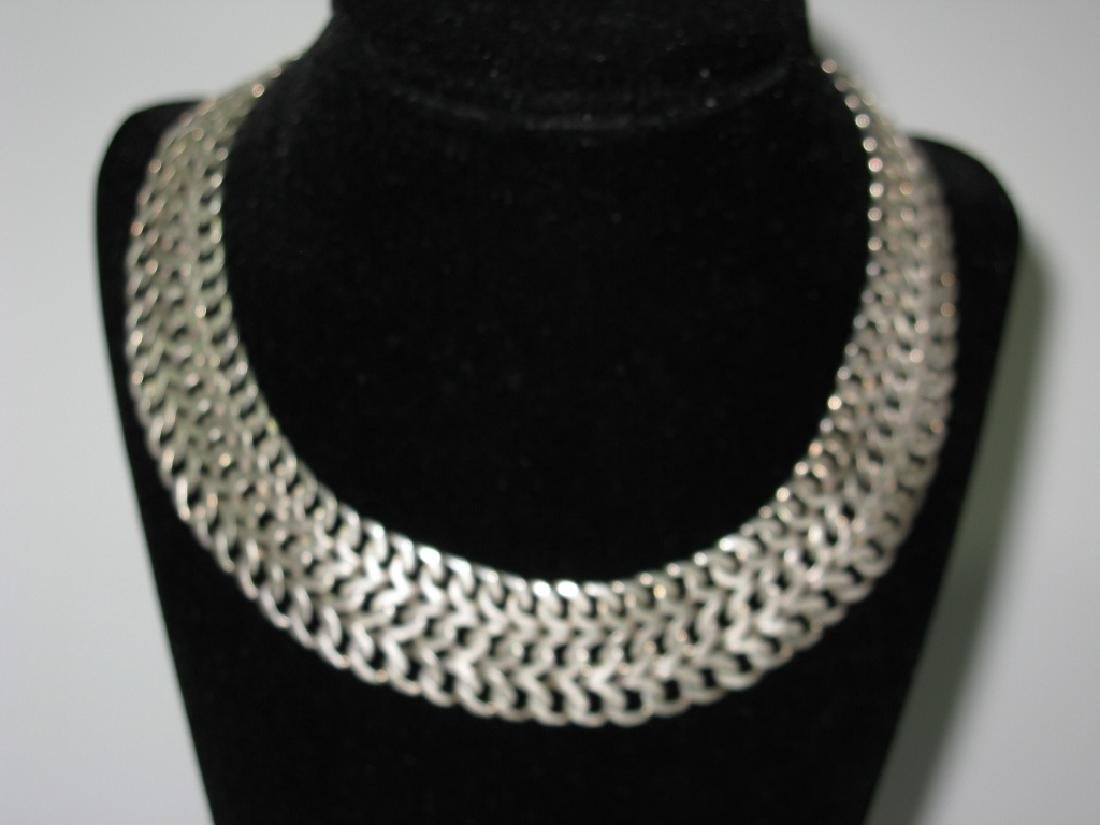 VINTAGE SIGNED STERLING MEXICO JEWELRY SUITE - 4