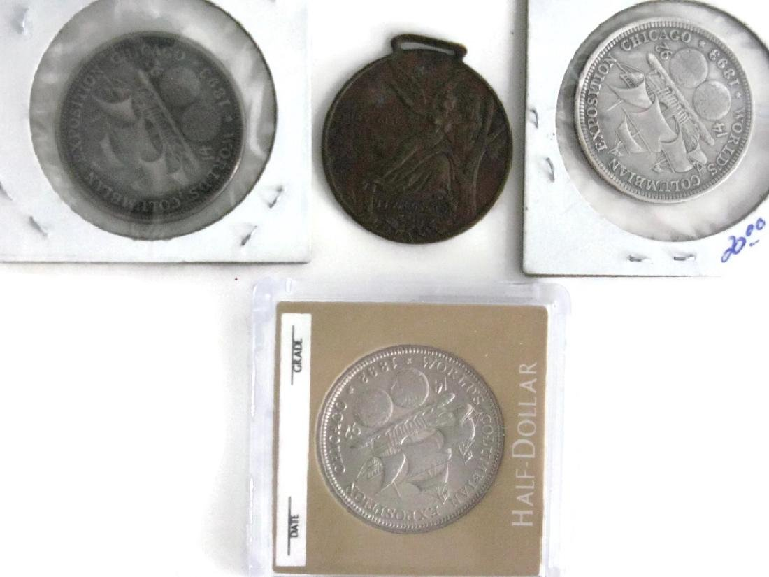 1889, 92, 93 COLUMBIAN EXPOSITION COINS & MEDALS
