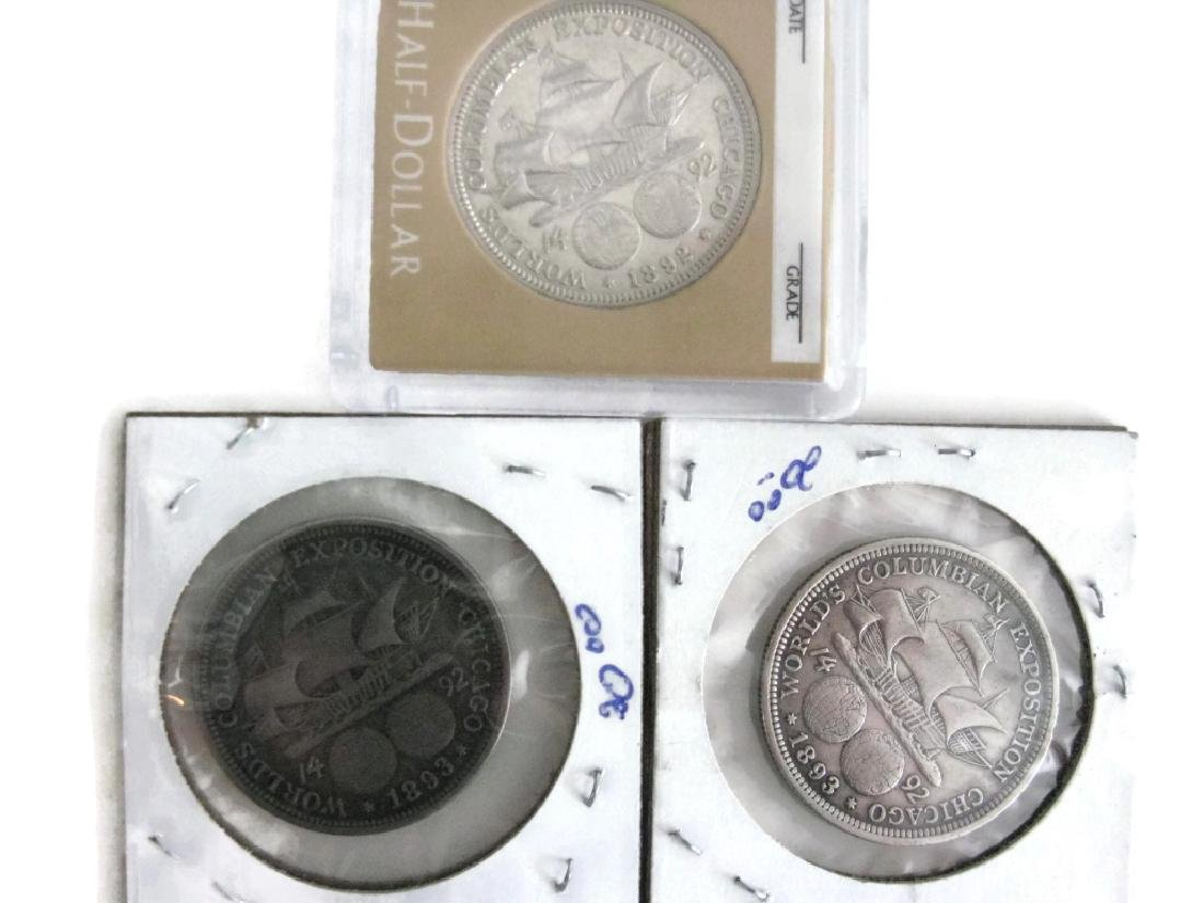 1889, 92, 93 COLUMBIAN EXPOSITION COINS & MEDALS - 3