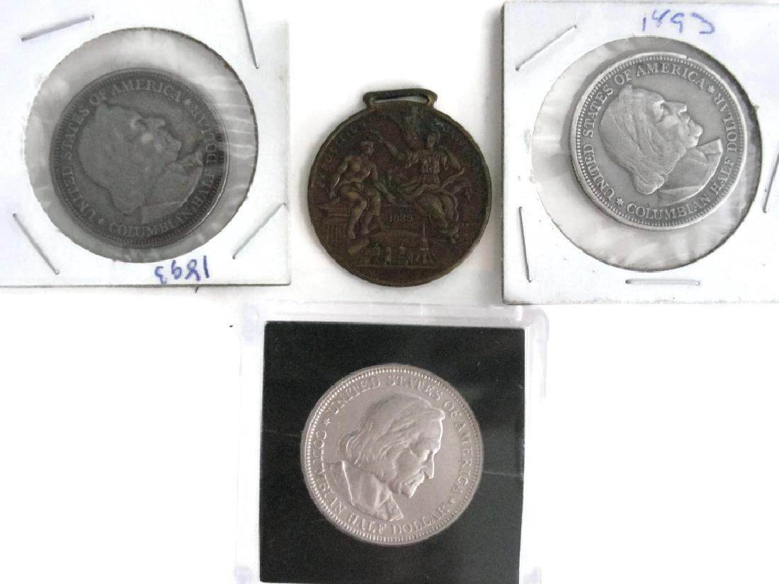 1889, 92, 93 COLUMBIAN EXPOSITION COINS & MEDALS - 5