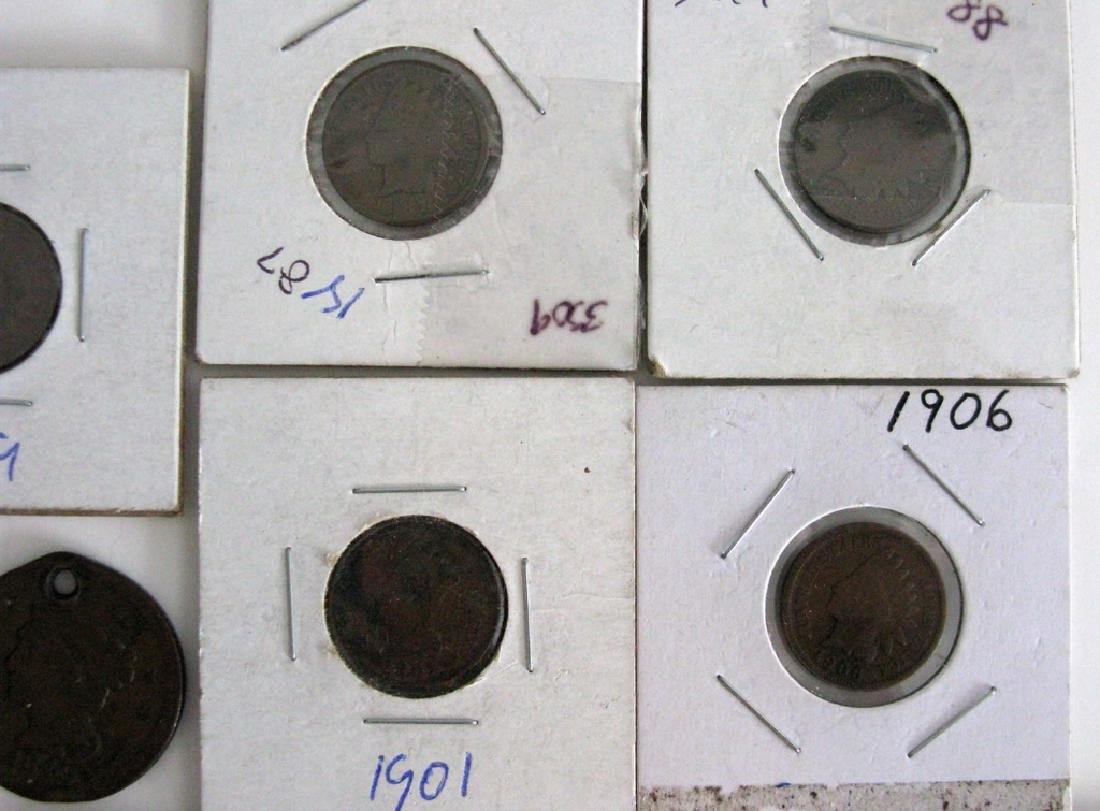 LINCOLN PENNIES LARGE CENT - WHEAT, STEEL & ERROR - 5