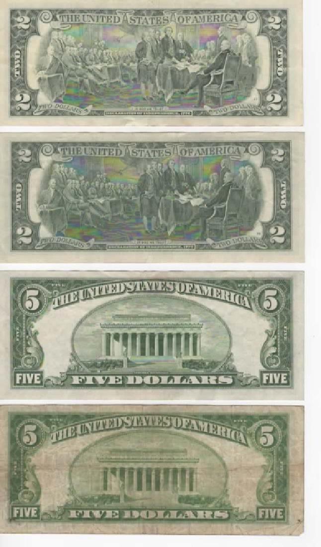 $1 $5 $10 SILVER CERTIFICATE DOLLARS & $2 BILLS - 3