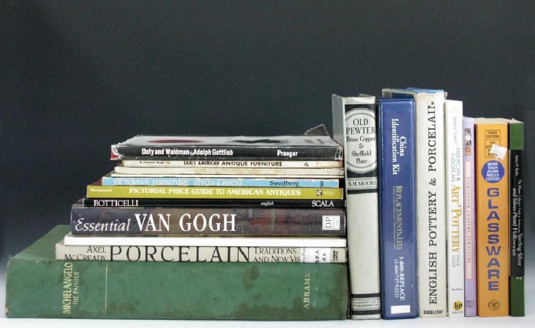 BOOKS FINE ART ARTISTS SILVER CERAMIC & FURNITURE - 2