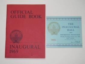 1969 NIXON INAUGURAL BALL INVITATION & GUIDE BOOK