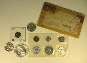 COINS - 1963 PROOF, QUARTERS, HALF-DOLLARS, MORGAN