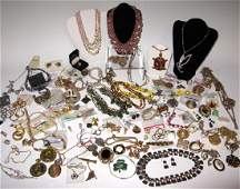 DEALERS LOT OF VINTAGE COSTUME JEWELRY