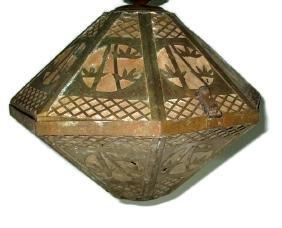 VINTAGE HANGING CHINOSERIE PENDANT LAMP / LANTERN