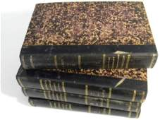 4 @ HAND COLORED GUERIN BOOKS ANIMALS CURIOSITIES