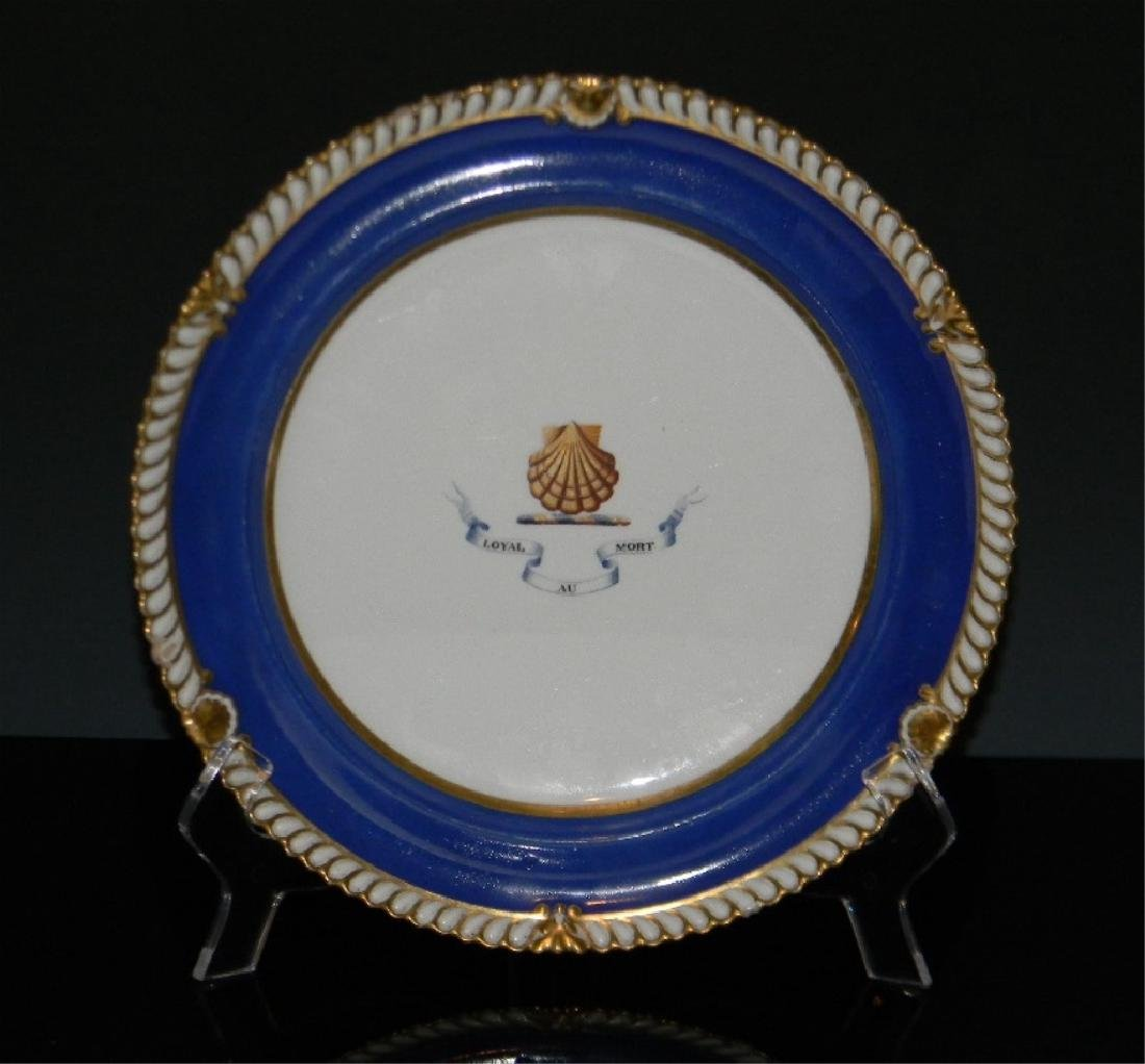 CHAMBERLAIN'S WORCESTER ARMORIAL PLATE