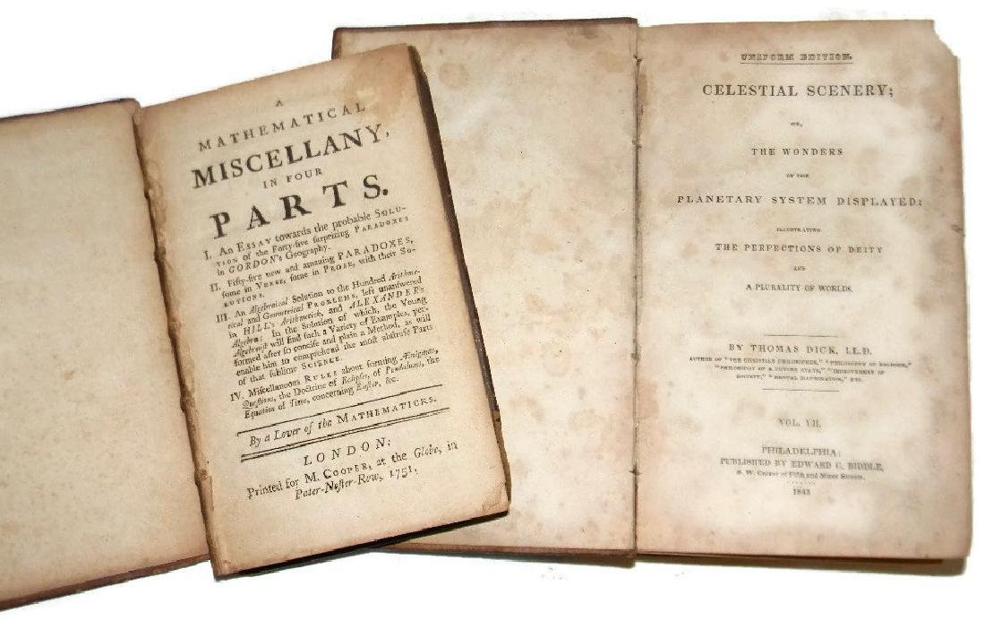 2 BOOKS 1843 CELESTIAL PLANETS & 1751 PARADOXES
