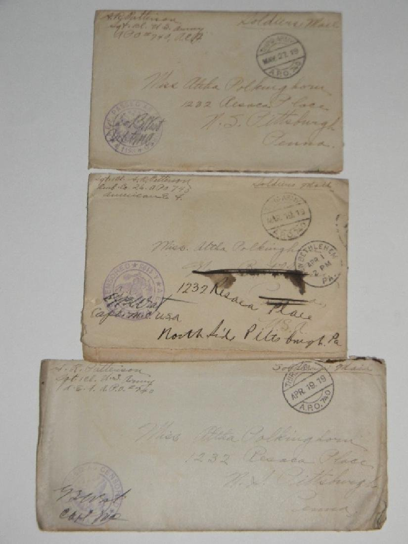 WWI LOVE LETTERS FROM A. R. PATTERSON TO ALTHA