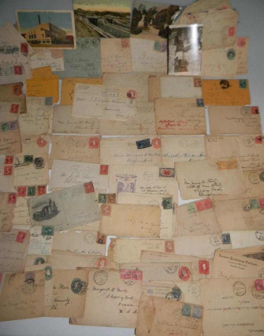 ARCHIVE OF EARLY STAMPS AND LETTERS, POSTCARDS
