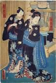 UTAGAWA KUNISADA JAPANESE UKIYOE WOODBLOCK PRINT