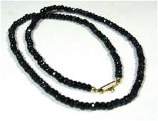 FACETED SAPPHIRE NECKLACE WITH 14K GOLD CLASP