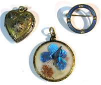 COLLECTION OF VICTORIAN GOLD PENDANTS