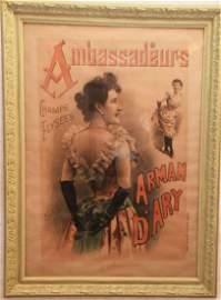 FRENCH CABARET ADVERTISING LITHOGRAPH ARY BY SM JACOBI