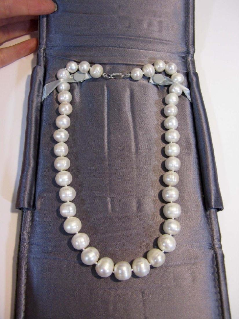 2 @ BAROQUE PEARL KNOTTED NECKLACES 925 CLASPS - 7