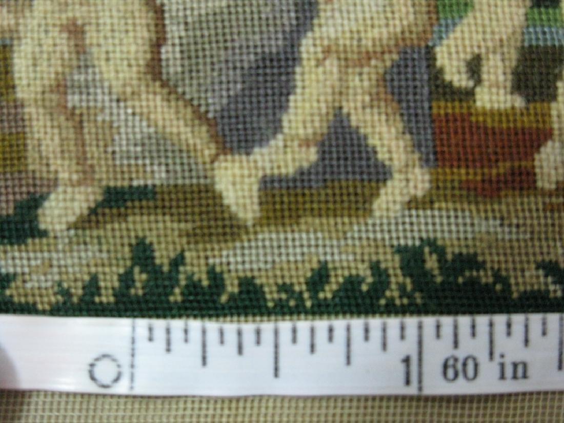 19TH C PETIT POINT DANCE OF CUPIDS AFTER ALBANI - 4