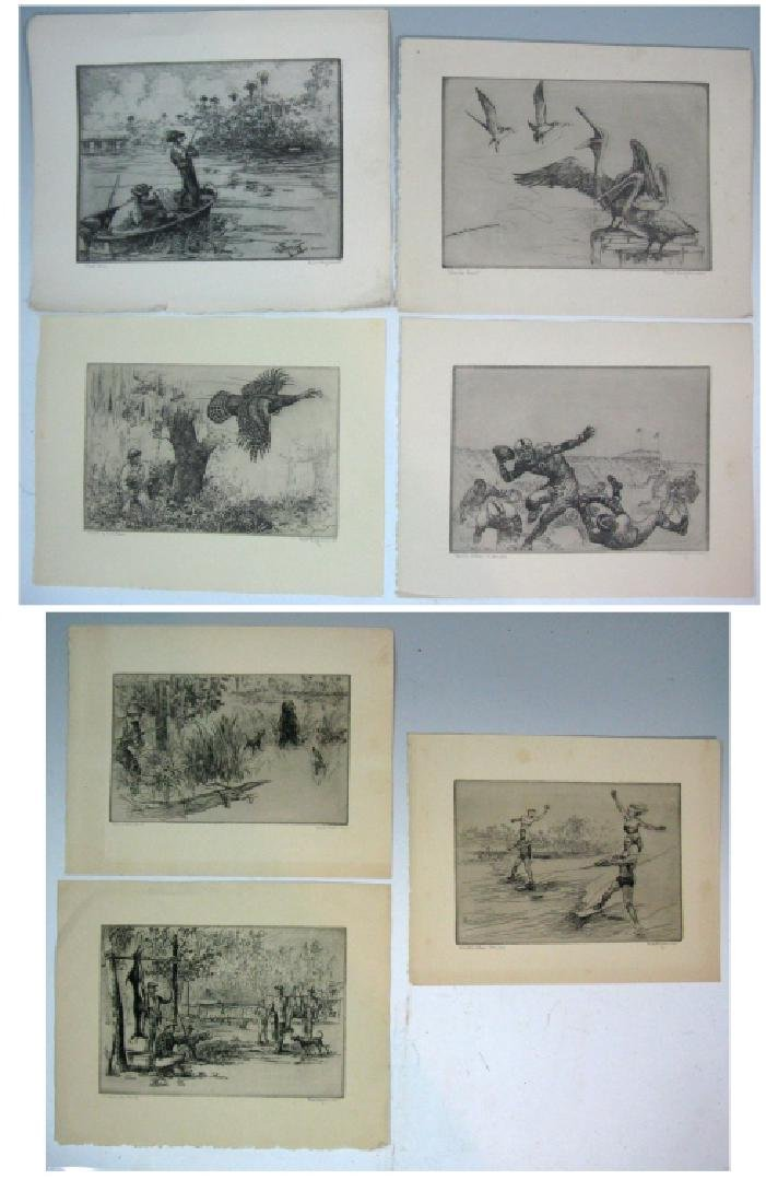 7 KENT HAGERMAN SIGNED INTAGLIO ETCHINGS