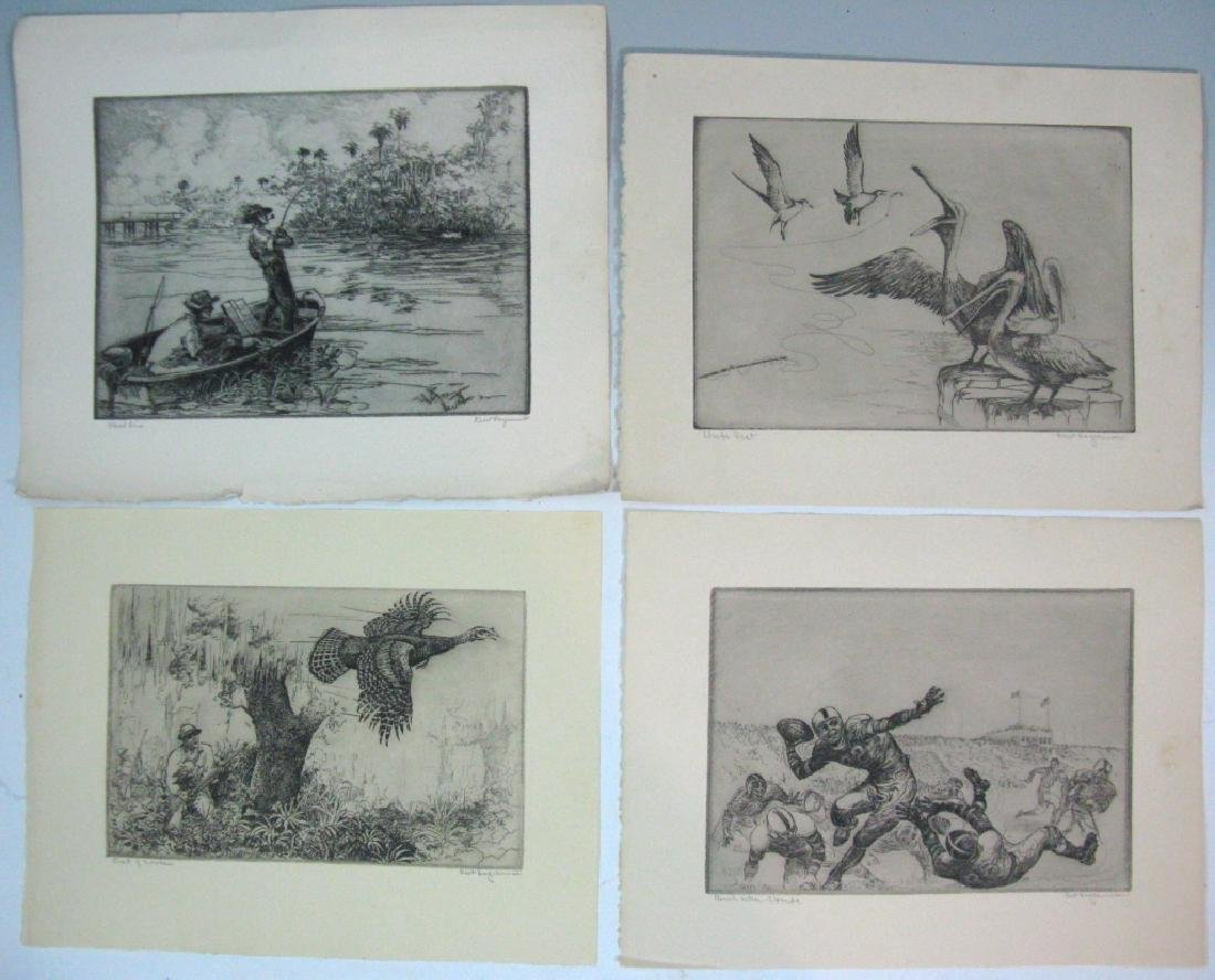 7 KENT HAGERMAN SIGNED INTAGLIO ETCHINGS - 2