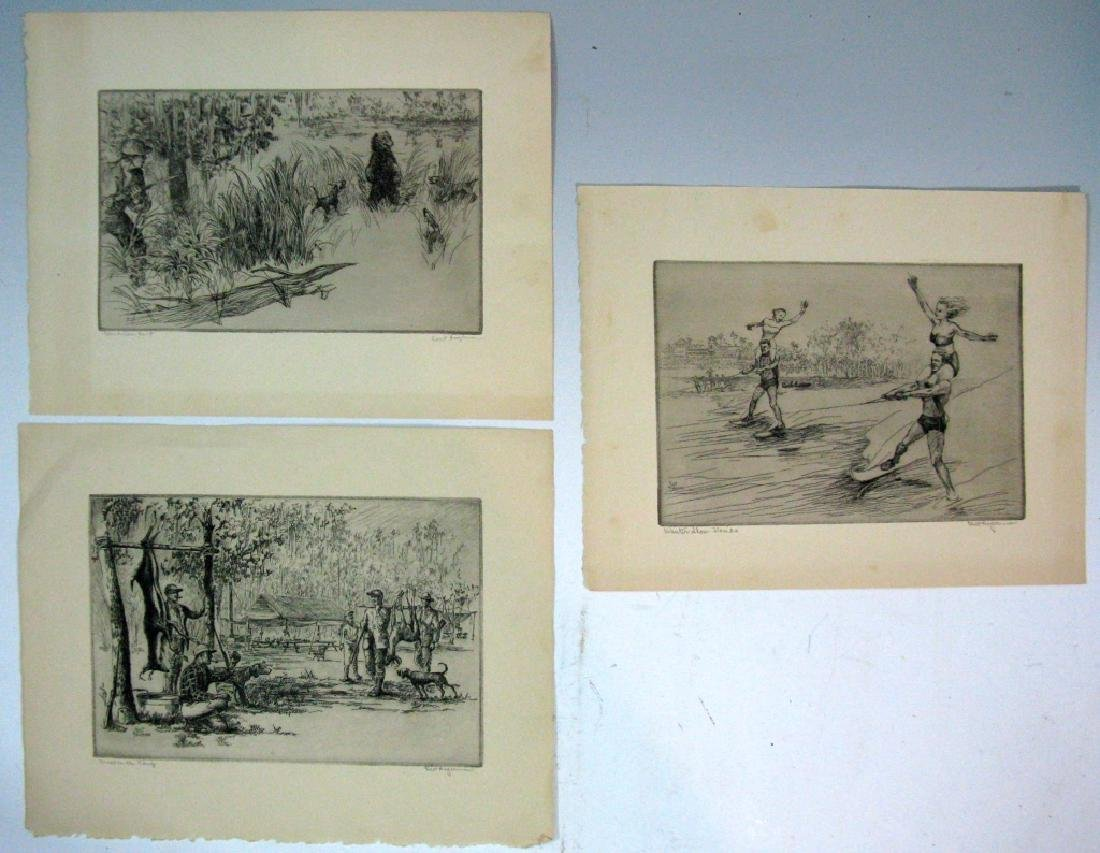 7 KENT HAGERMAN SIGNED INTAGLIO ETCHINGS - 3
