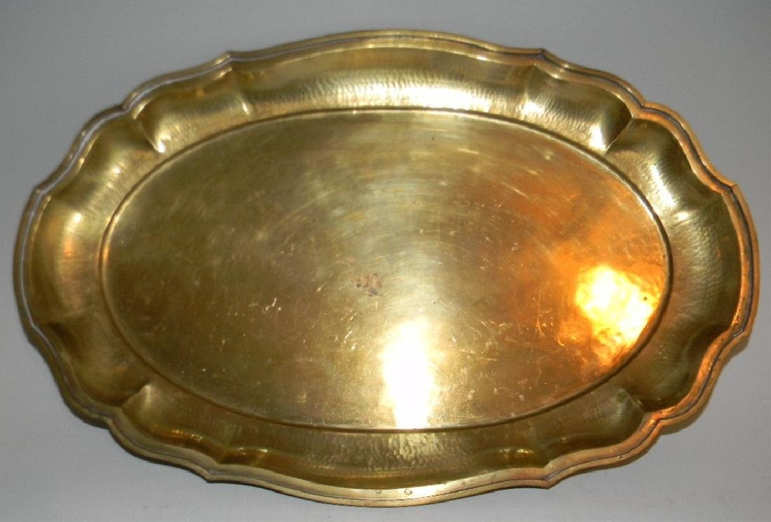 VINTAGE BRASS DALLAH GRADUATED COFFEE SET & TRAY - 8